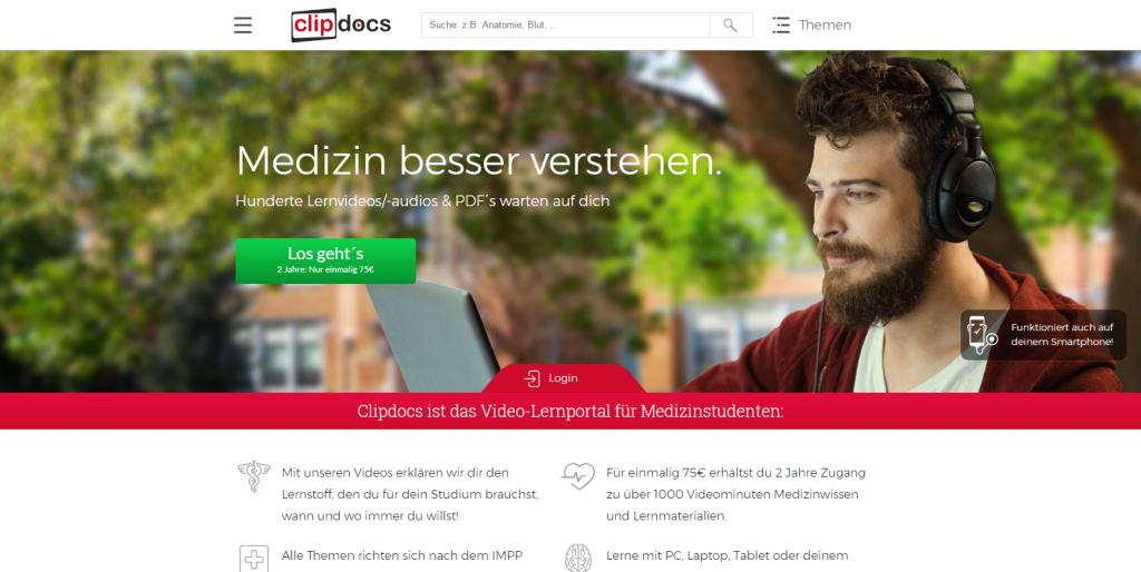 Startseite Clipdocs - Teil 1